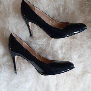 Navy Patent Leather Heels - Vianni Collection